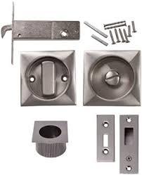 schloss für wc und badezimmerschiebetür für privatsphäre quadratisch mit münzschlitz öffnung matter edelstahl