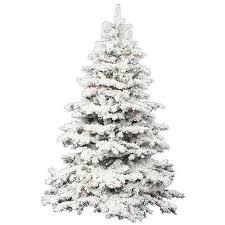 Vickerman Flocked Alaskan White On Green 45 Foot X 44 Inch Christmas Tree With 300
