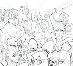 Disney Villain Coloring Pages Villains Book And Page Online