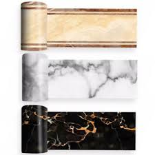 details zu 2m marmor selbstklebend badezimmer küche wand treppe boden bordüre kachel