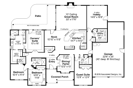 Ranch House Plan West Creek 30 781 Flr 0 Rustic Style Plans With Porches No Garageent Walkout