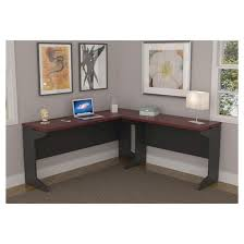Ameriwood Computer Desk With Shelves by Pursuit L Shaped Desk Bundle Cherry Gray Ameriwood Home Target