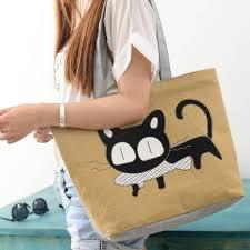 cute cat eating fish lady casual handbag u2013 pet clever