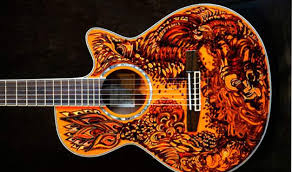 03 Guitar 1 Floral Design On Telecaster By Carnegriff D5ucs54