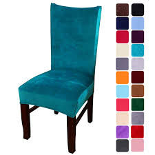 Smiry Velvet Stretch Dining Room Chair Covers Soft Removable Dining Chair  Slipcovers Set Of 4, Peacock Green Stretch Ding Room Chair Covers Soft Spandex Short Protector Removable Slipcover Set Of 2 Aqua Blue Menswear Slipcovers By Shelley Ihambing Ang Pinakabagong Colorful Prting Elastic High Back Room Ideas Great Bay Home 4pack Velvet Plush Printed Cover Kitchen Seat Slip Red Grey Navy Beige Set 4 6 Pool Excellent Astonishing Amusing Chairs Fabric Ideas Accent Covered Diy Light Elegant Polyester And Washable Sure Fit Pinstriped Products