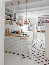 white tile kitchen home design
