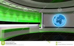 Download Tv Studio News Green The Perfect Backdrop Stock Illustration