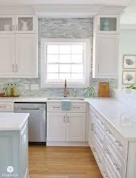 Installing A Paper Faced Mosaic Tile Backsplash Backsplashes With White CabinetsBacksplash For CabinetsWhite Cabinet KitchenKitchen