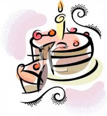 A Slice Taken From a Birthday Cake Royalty Free Clipart Picture