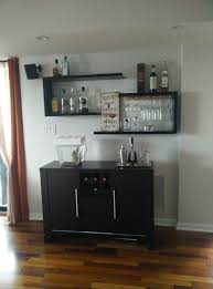 Suggestions to arrange decoration my floating bar shelves & sideboard