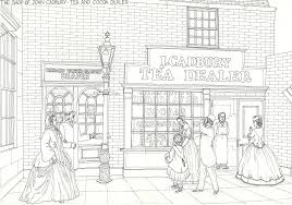 Streets Victorian Coloring Pages