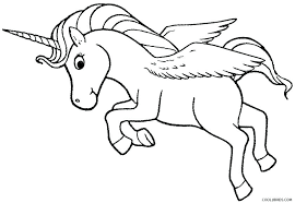 Flying Unicorn Coloring Pages Realistic