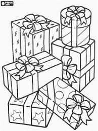 Pile Of Christmas Gifts With Beautiful Bows Coloring Page