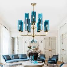 kronleuchter glas säule design aus eisen für wohnzimmer 6 8