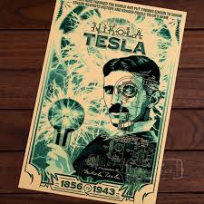 Great Scientist Physicist Tesla Poster Cool Science Magic Portrait Retro Decorative Wall Canvas Stickers Posters Bar