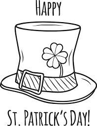 St Patricks Day Coloring Pages Hat
