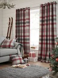 Buy Thermal Red Cosy Check Eyelet Curtain From The Next UK Online Shop