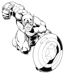 Super Heroes Coloring Page