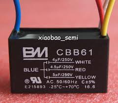 Cbb61 Ceiling Fan Capacitor 2 Wire by Ul Cbb61 Ceiling Fan Capacitor 4uf 4 5uf 5uf 4 Wire 250vac Bm Ebay
