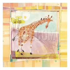100 Robbin Rawlings Playful Giraffe Art Print By Artcom