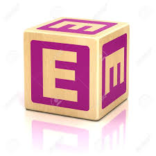 Letter E Alphabet Cubes Font Stock Picture And Royalty Free