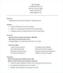 Resume For Primary Teacher Job Fresher Sample Teaching Education Template