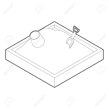 Sandbox Icon Outline Illustration Of Vector For Web Stock