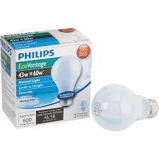 philips ecovantage a19 medium halogen light bulb 475871 do it best