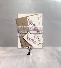 Rustic Lavender Lilac Purple And Lace Wedding Invitations