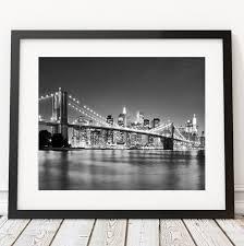 moderne new york pont noir et blanc photos toile home
