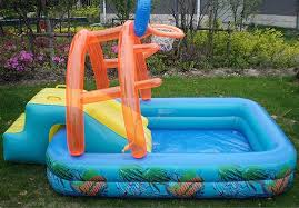 Small Kids Inflatable Pool With Slide