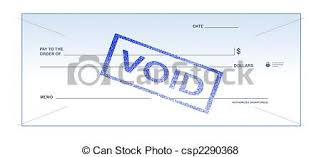 Isolated white background void blank check stamp for office
