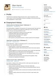 Resume Examples For Catering Server New Cv Cover Letter Of