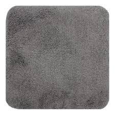 proheim badematte 50 x 50 cm in grau rutschfester wc vorleger premium badteppich 1200 g m weich kuschelig hochflor duschvorleger