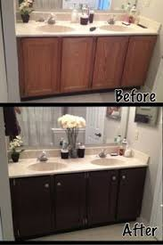 easy way to paint your bathroom cabinets painted bathroom