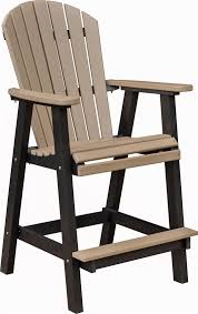 Berlin Gardens fo Back Outdoor Poly Bar Stool from DutchCrafters