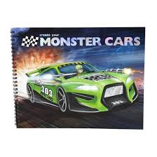 Create Your Monster Car Colouring Book