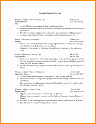 College Freshman Resume No Work Experience Collegestudentume For Sampleumes