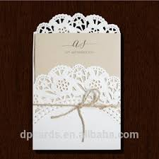 Wholesale Die Cut Invitation Cards Models Rustic Wedding White