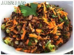 cuisine des lentilles salade de lentilles beluga recette ptitchef