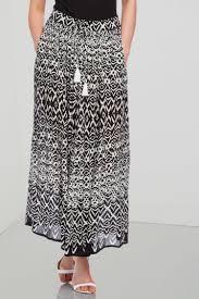 tribal print maxi skirt in ivory romanoriginals co uk