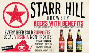Starr Hill Brewery Announces Beers With Benefits Initiative