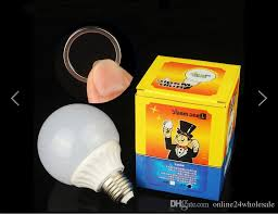 Magic Light Bulb Addams Family Uncle Fester Trick Costume Joke Led
