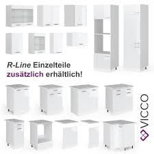 vicco küche raul küchenzeile küchenblock einbauküche 240 cm weiß hochglanz