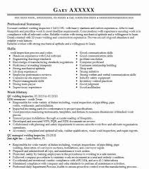 Qc Welding Inspector Resume Sample
