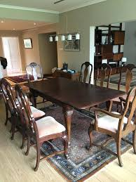 Mahogany Dining Room Table With 8 Chairs In Ii Style Second Half