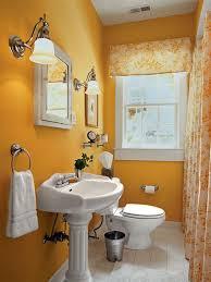 Compact Yellow Bathroom Interior Design