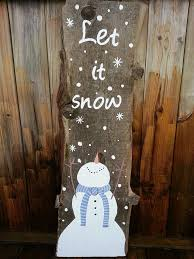 Snowman Painted On Barn Board Let It Snow Made In Utopia Christmas Wood SignsChristmas DecorationsChristmas CraftsChristmas IdeasXmasPallet