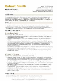 Nurse Consultant Resume Sample