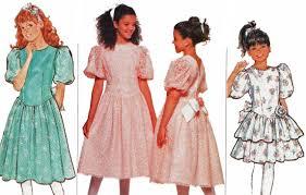 girls princess dress pattern junior bridesmaid flower party